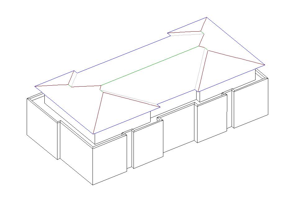 Unser Neu-Kunde Sven Schoppmeier hat gerade sein 1. Projekt erstellt. Flachgeneigtes Walmdach mit umlaufenden Flachdach - Gratulation Sven!